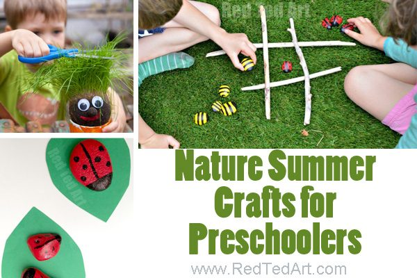 Summer crafts for preschoolers - love these Nature focused summer crafts for toddlers and preschool. Over 47 hands on summer activities for preschool #preschool #summer #handson #crafts #toddler