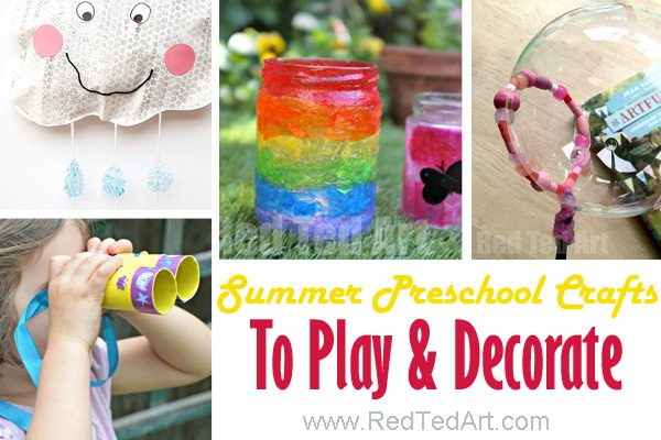 Summer crafts for kindergarten and preschool. We love these hands on Summer Crafts for Preshcool. A wide set to choose from. Great for toddlers and preschoolers alike #summer #crafts #activities #preschool #kindergarten