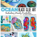 Ocean Black Glue Art Projects