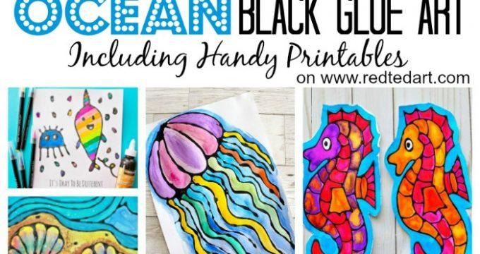 Ocean Black Glue Art Projects