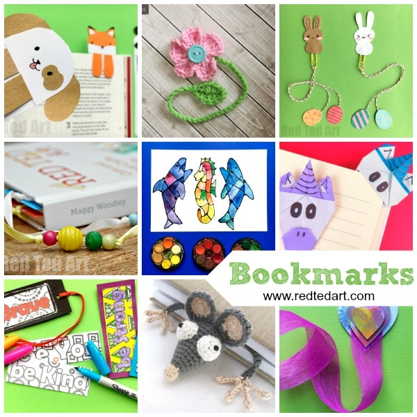 Creative DIY Bookmark Ideas. By now you MUST know how much we love love love bookmark DIYs in our house. We love to read. And we love this handy little craft. Bookmarks are quick and easy to make. They are a great little gift idea for anyone in the family and there are so many different bookmark ideas and designs to choose from. Here is a great set of bookmark crafts for kids!