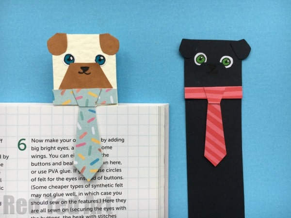 """Hug a Book Pug Bookmark DIY - Includes FREE PRINTABLE - a super cute and fun DIY Bookmark Idea for dog and animal lovers. Check out these adorable """"hug a book"""" Pug Bookmark designs - make them from scratch or use our handy free templates to cut and colour. So cute!! Love love love. Happy Reading everyone! (Makes a nice """"Male teacher's gift"""" too, don't you think?)"""