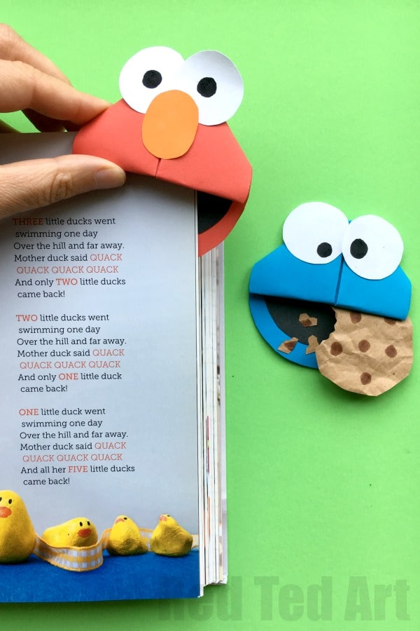 Paper Cookie Monster Craft