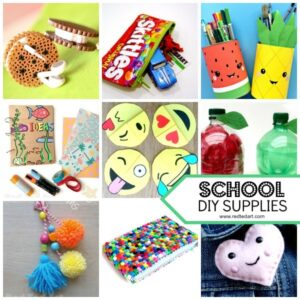 DIY School Supplies. We love back to school