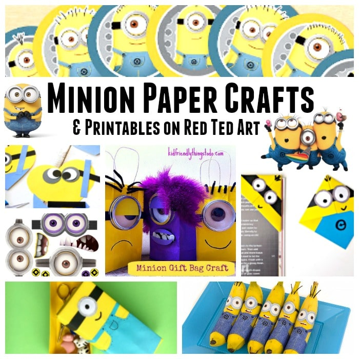 image about You Re One in a Minion Printable named 37+ Minion Paper Crafts Despicable Me Printables - Pink Ted Artwork