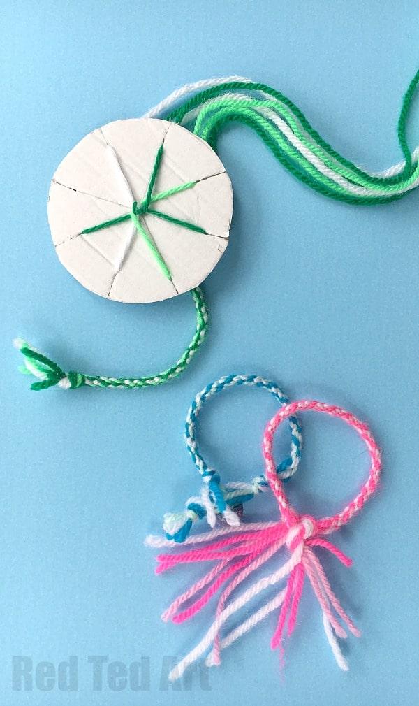 Bracelet diy yarn