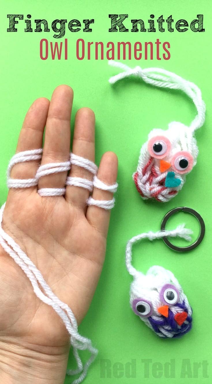 easy finger knitting instructions