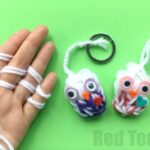 Finger Knitting Owl Ornaments