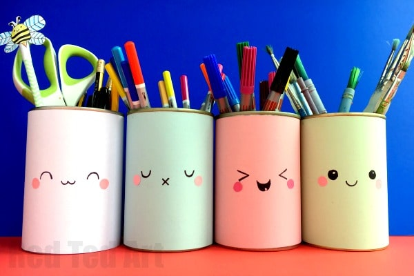 Kawaii Pencil Holder Diy Idea Red Ted Art S Blog