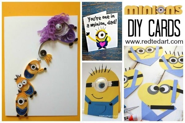 Minion Card Making Ideas. 37+ Minion Paper Crafts & Despicable Me Printables - Love those lovablable Minions? Love Minion DIY Ideas... take a look at these fabulous collection of Minion Paper Crafts. Some to make from scratch, some with fabulous printables. Hooray for Minions and Paper Crafts!