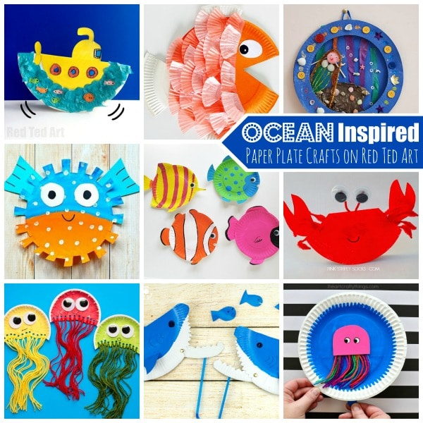 Under the Sea Paper Plate Crafts for Kids - These Paper Plate Crafts for Preschoolers are  sc 1 st  Red Ted Art : crafts from paper plates - Pezcame.Com