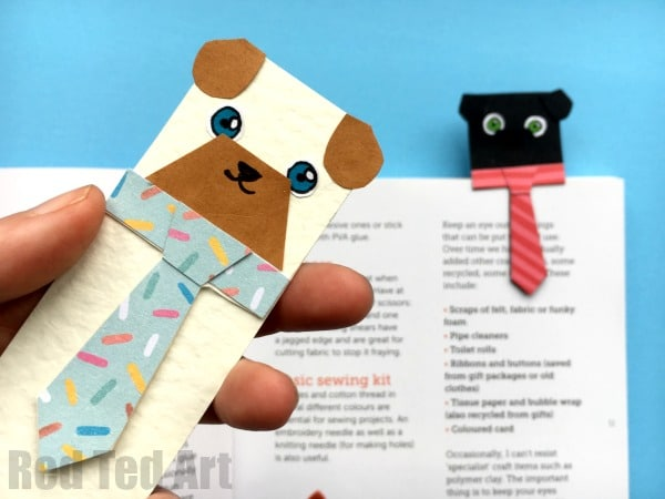 Hug A Book Pug Bookmark Diy Red Ted Arts Blog