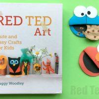 Paper Cookie Monster Bookmark Corner DIY