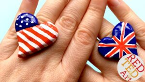 4th of July DIY Rings - love this US Flag Ring DIY