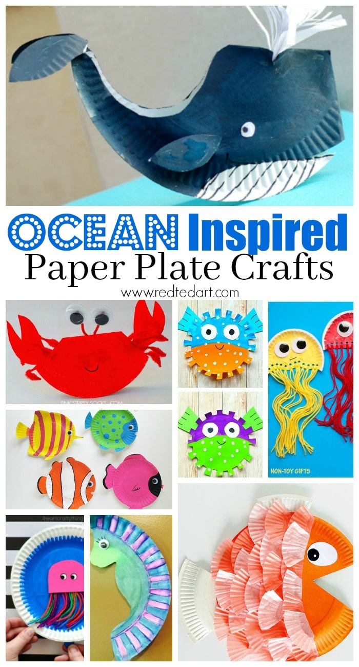 Under The Sea Paper Plate Crafts For Kids Red Ted Art