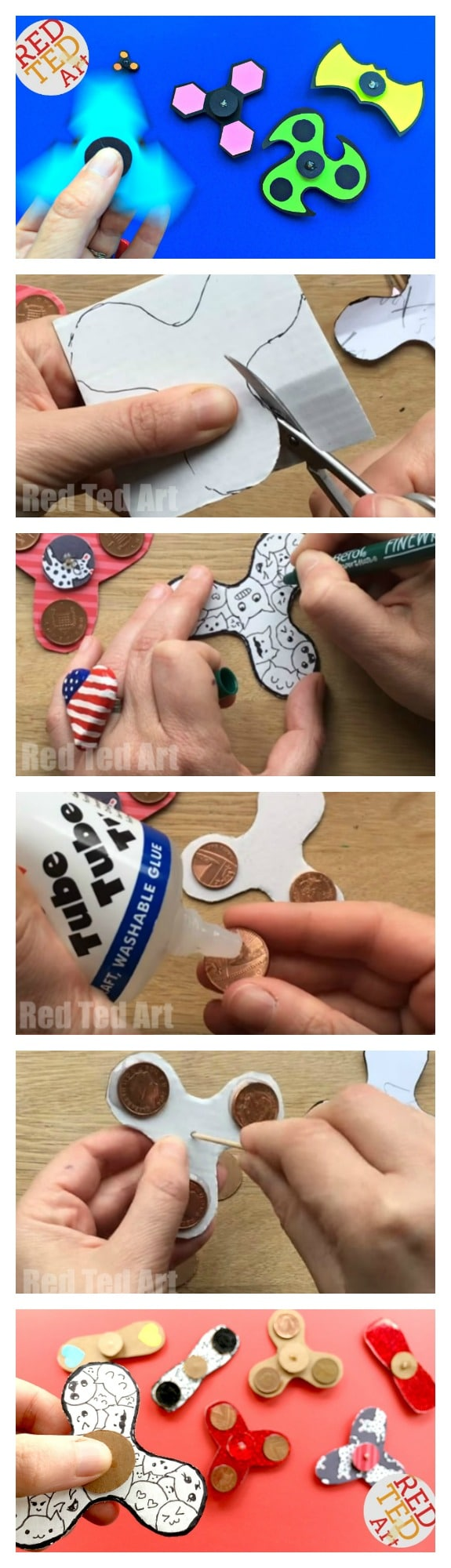 These DIY Fidget Spinners without bearings are SO COOL. You can now download the free Printable DIY Fidget Spinner instructions. A free step by step guide to making fidget spinners. Perfect for Youth Groups, Summer Camps, Schools or Library Schemes. Includes free Fidget Spinner DIY Templates too.