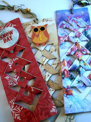 Easy Christmas Bookmark Idea - upcycled christmas cards
