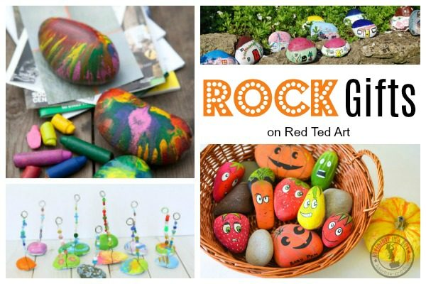 These Rock DIYs make great gift. Easy Rock Crafts for Kids - my kids love collecting rocks when on holiday. Here are some wonderful easy rock crafts for kids to make! #rocks #rockpainting