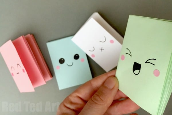 "DIY Mini Notebook From A Sheet Of Paper - these little notebooks are super fun to make and all you need is a sheet of paper. They are clever ""paper magic"".... make one, make a 100 and decorate them which ever way you want. How to make a notebook with no glue!! We love mini notebooks DIYs (more coming soon!)"