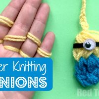 Finger Knitted Minion
