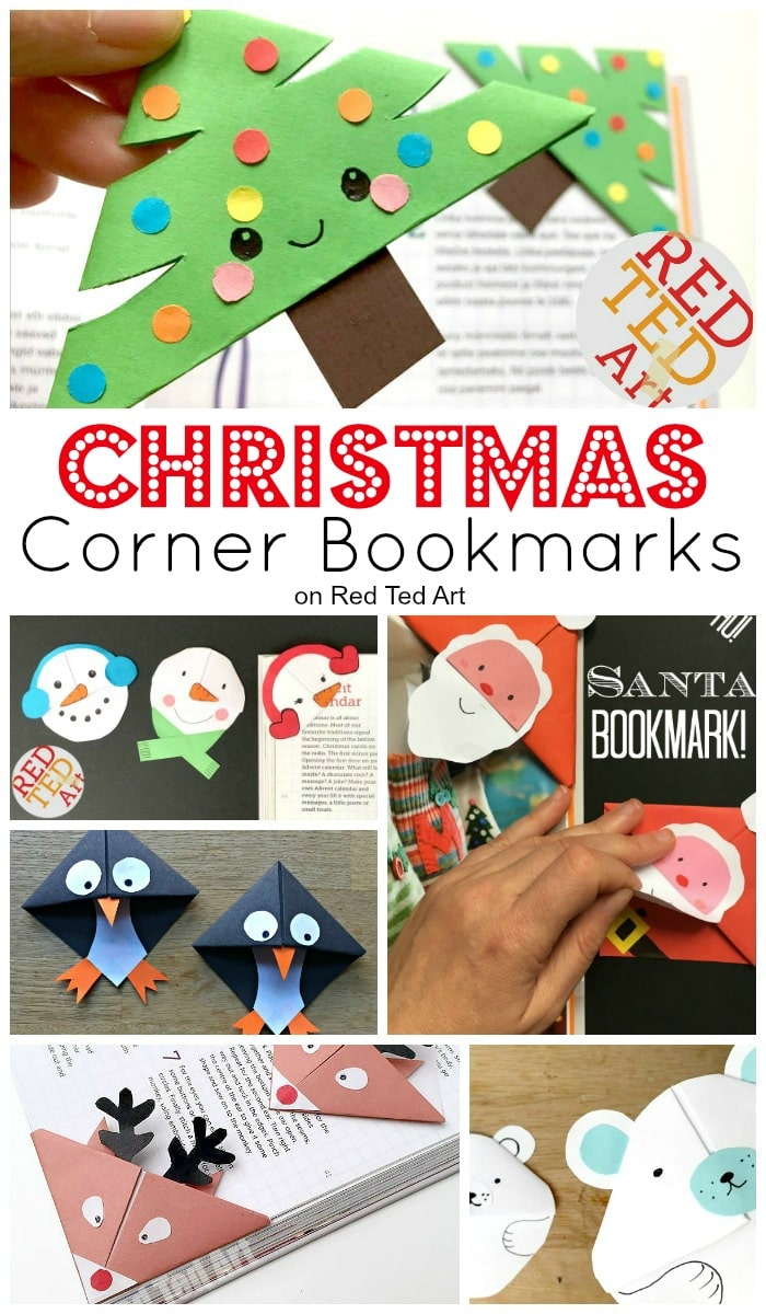 Easy Christmas Bookmark Ideas for Kids - Red Ted Art\'s Blog