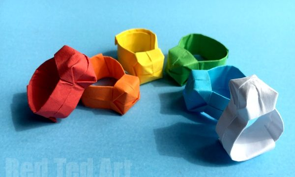 Easy Origami Ring DIY