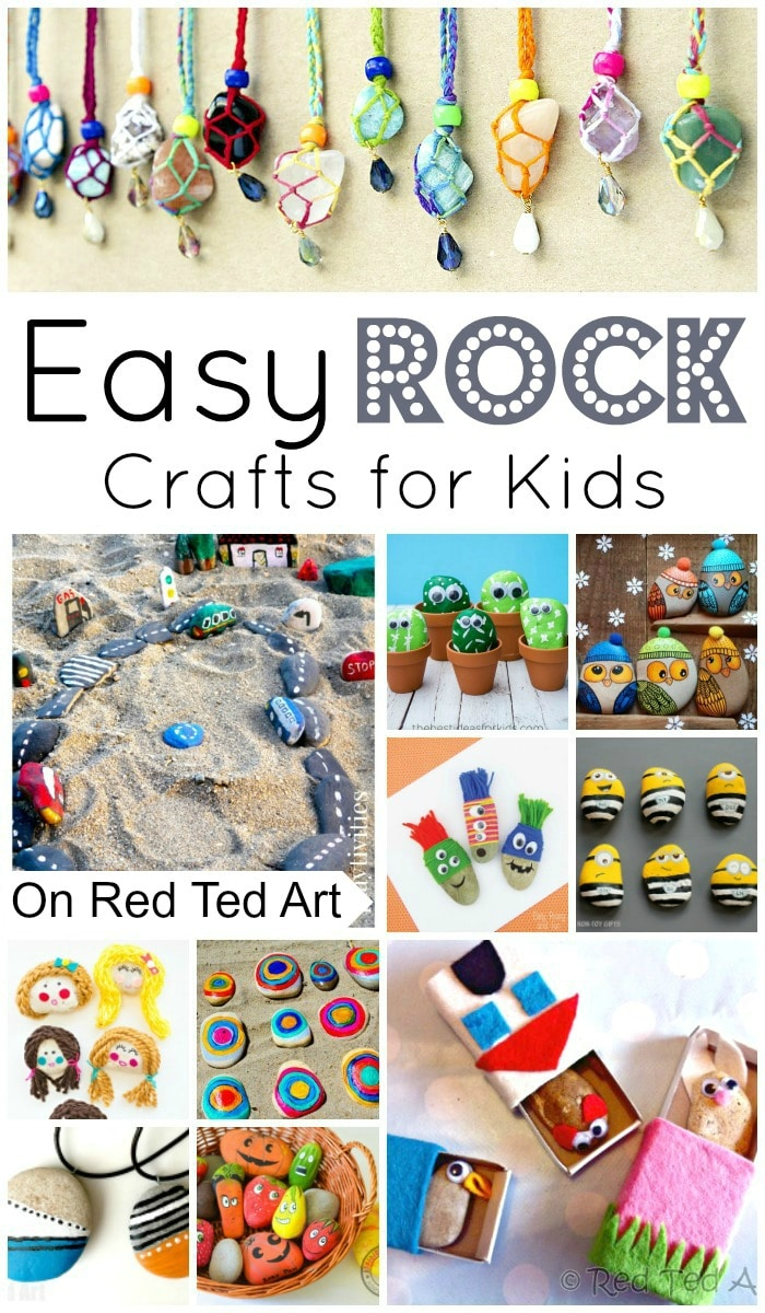 Easy Rock Crafts for Kids - my kids love collecting rocks when on holiday. Here are some wonderful easy rock crafts for kids to make! #rocks #rockpainting #stones #howtopaint #summer