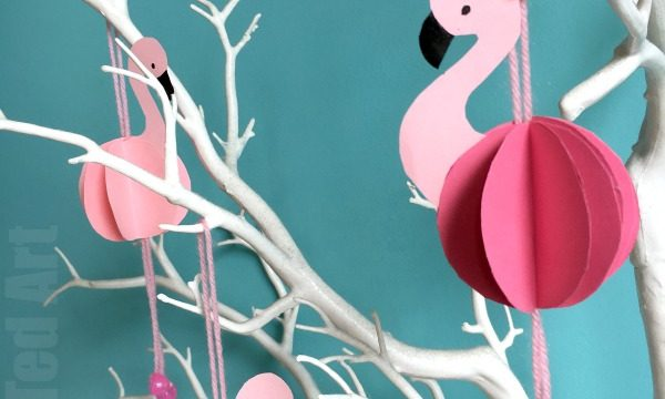 Easy Paper Flamingo Decor DIY – Summer Room Decor