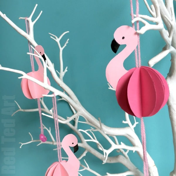 Easy Paper Flamingo Decor DIY