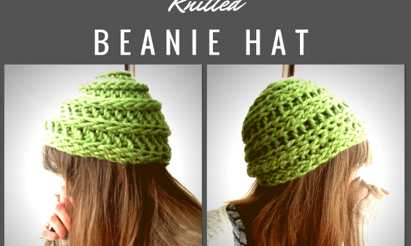 How to Finger Knit a Beanie Hat DIY