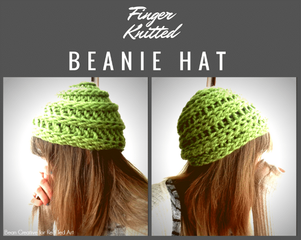 How to Finger Knit a Beanie Hat DIY - need a new finger knitting project? Want to try something new? Here is a super cool NO SEW Finger Knitted Beanie Hat DIY! Love. Can't wait to give it a go! #Fingerknitting #beaniehat #howtoknit #fingerknithat