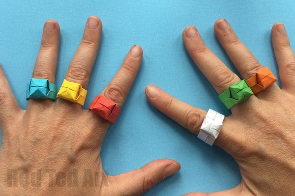 Easy Origami Ring Diy Red Ted Arts Blog