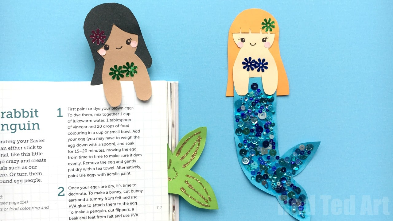 Mermaid Bookmark Diy Red Ted Arts Blog