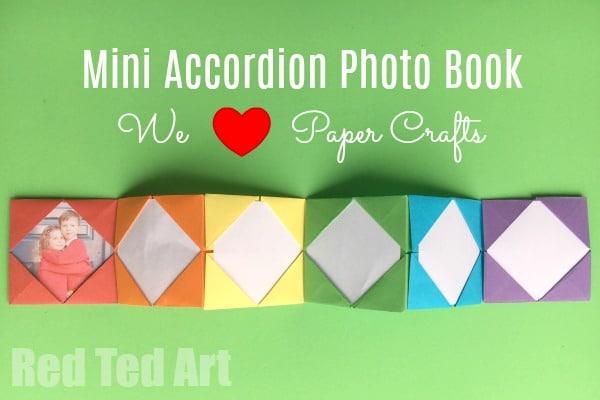 Mini Origami Photo Album - Accordion Photo Book - Red Ted Art - photo#44