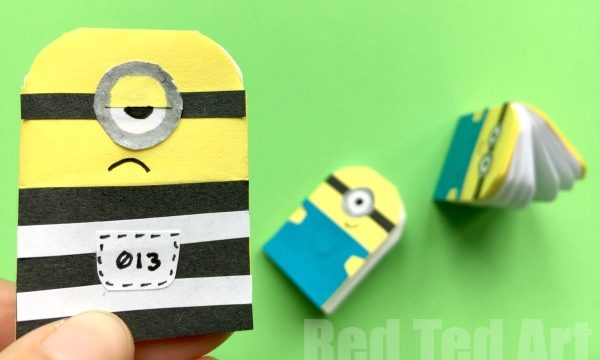 Easy Paper Minion Notebook DIY