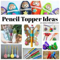 Pencil Topper Craft Ideas