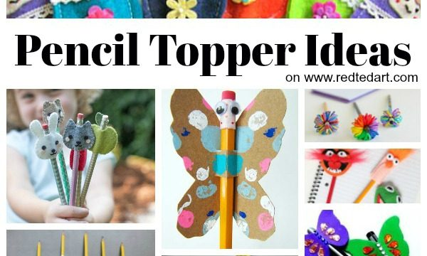 Collage of Pencil Topper Crafts