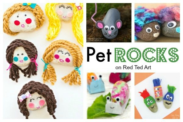 Stones make GREAT Rock Pets. Here our favourite Rock Pocket Friends to make with the kids. Adorable.