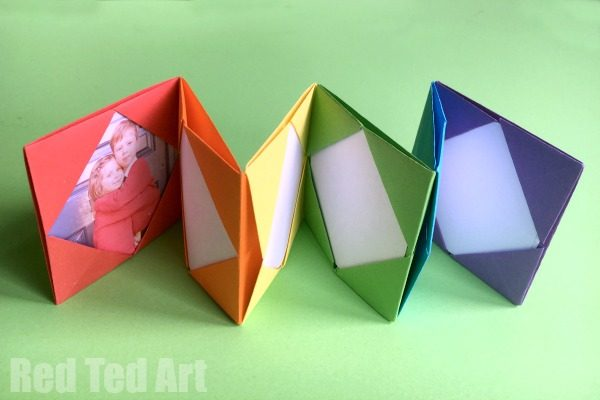 How to.. make Paper Photo Frames - Red Ted Art\'s Blog