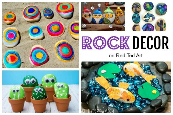 Here are some great ways to decorate ways to stones. Easy Rock Crafts for Kids - my kids love collecting rocks when on holiday. Here are some wonderful easy rock crafts for kids to make! #rocks #rockpainting