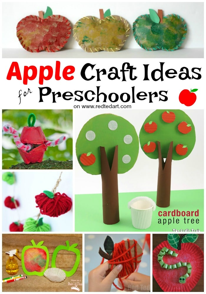 20 Apple Crafts for Fall - these apple DIY Ideas are just so cute. The kids will love having a go? Will it be apple print wreaths, yarn wrapped apple garlands or this adorable Paper Plate Apple and worm? Great Apple Crafts for Preschoolers to discover and have a go at! #apples #applecrafts #fall #autumn #backtoschool #teachers