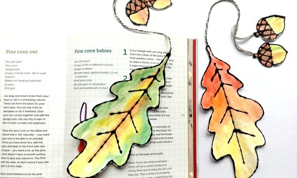 Watercolour Leaf Bookmarks