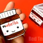 No Glue Nutella Notebook DIY