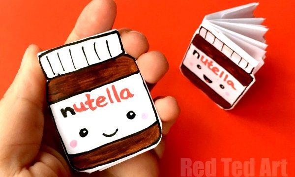 No Glue Nutella Notebook DIY