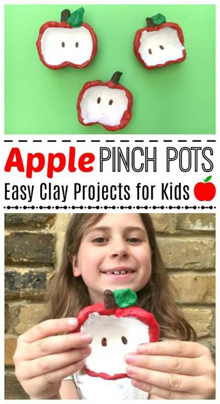 Apple Pinch Pots for Kids - this is a super easy and darling apple craft for kids. Perfect fall activity and super easy and cute. My kids adored the process, and these little apple pinch pots also make great gifts that kids can make later in year. Adorable!!