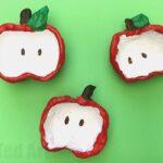 Apple Pinch Pots for Kids