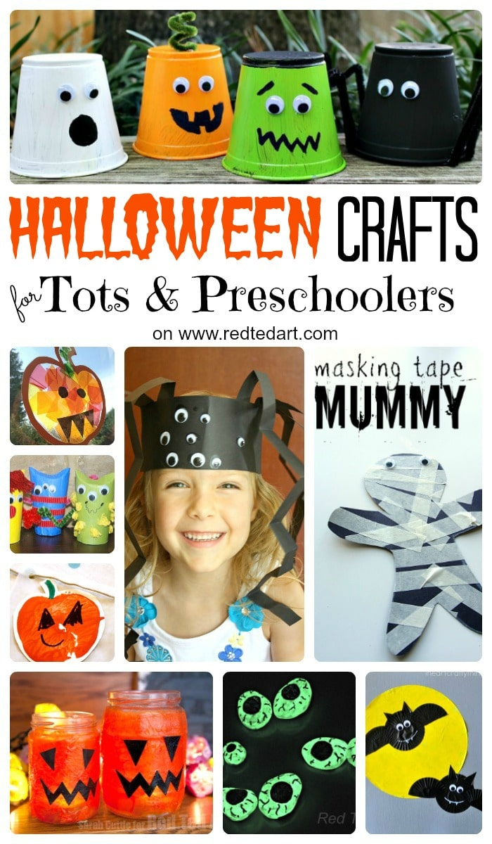 Super cute and spooky Halloween Crafts for Toddlers and Preschoolers