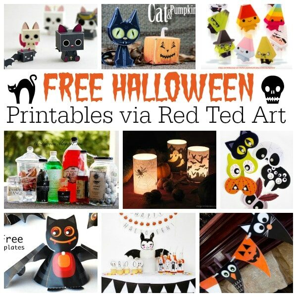 graphic about Free Halloween Printable known as No cost Halloween Printables for Older people Children - Crimson Ted Artwork