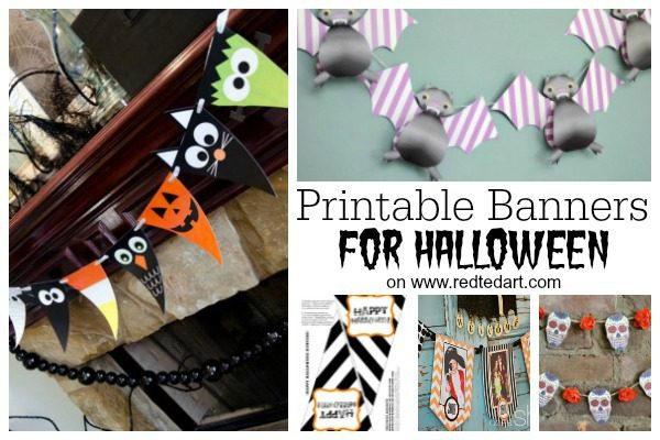 photograph about Printable Halloween Banners titled Absolutely free Halloween Printables for Grownups Young children - Crimson Ted Artwork