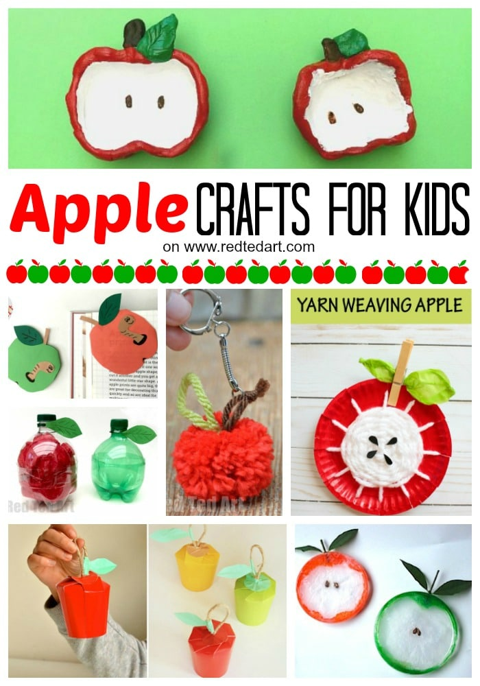 27 Easy Apple Craft Ideas - Red Ted Art